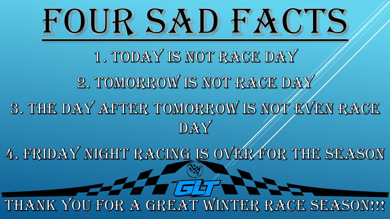 2016 Racing season end- FOUR SAD FACTS