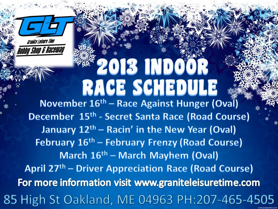 GLT 2013 Indoor Race Event Schedule
