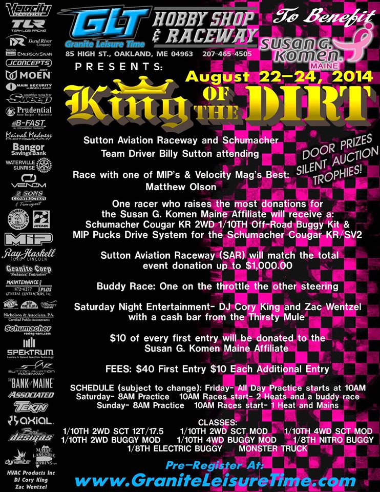 King of the Dirt 2014 Final Flyer