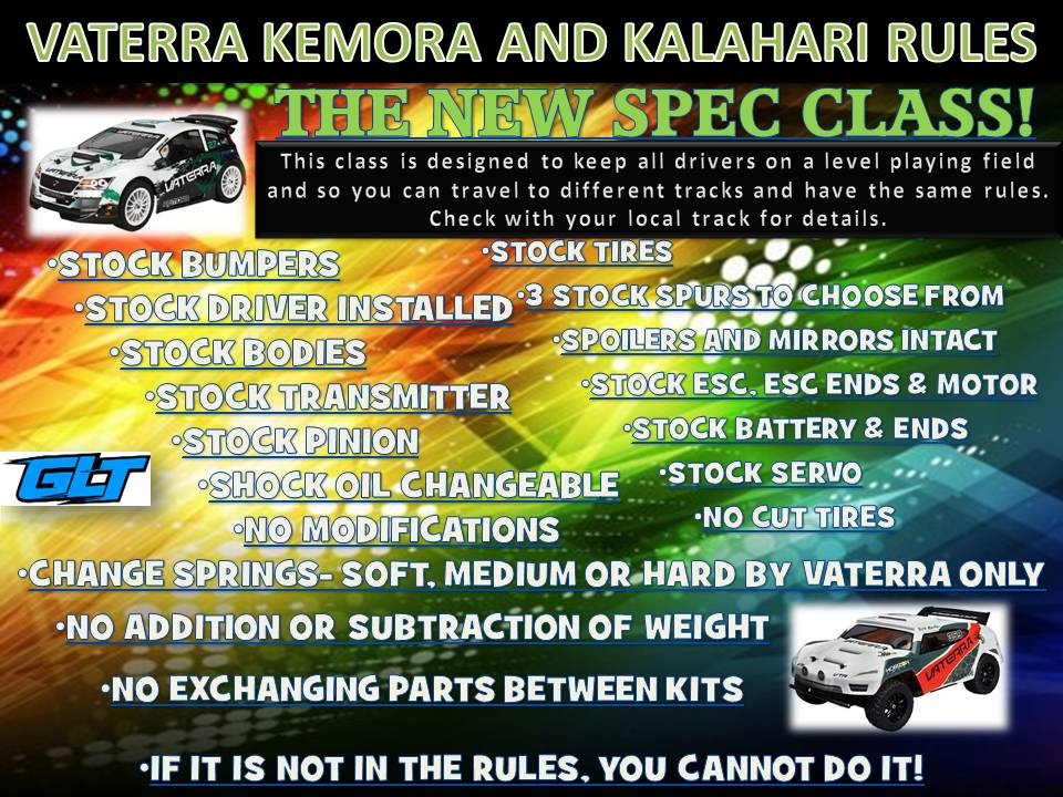 Vaterra Kemora and Kalahari Rules