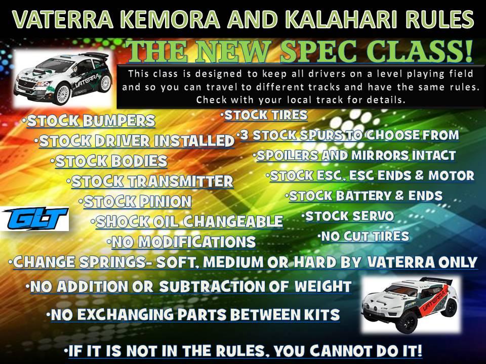 Vaterra Kemora and Kalahari Rules