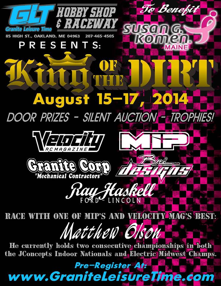 King of the Dirt 2014 Save the Date Flyer