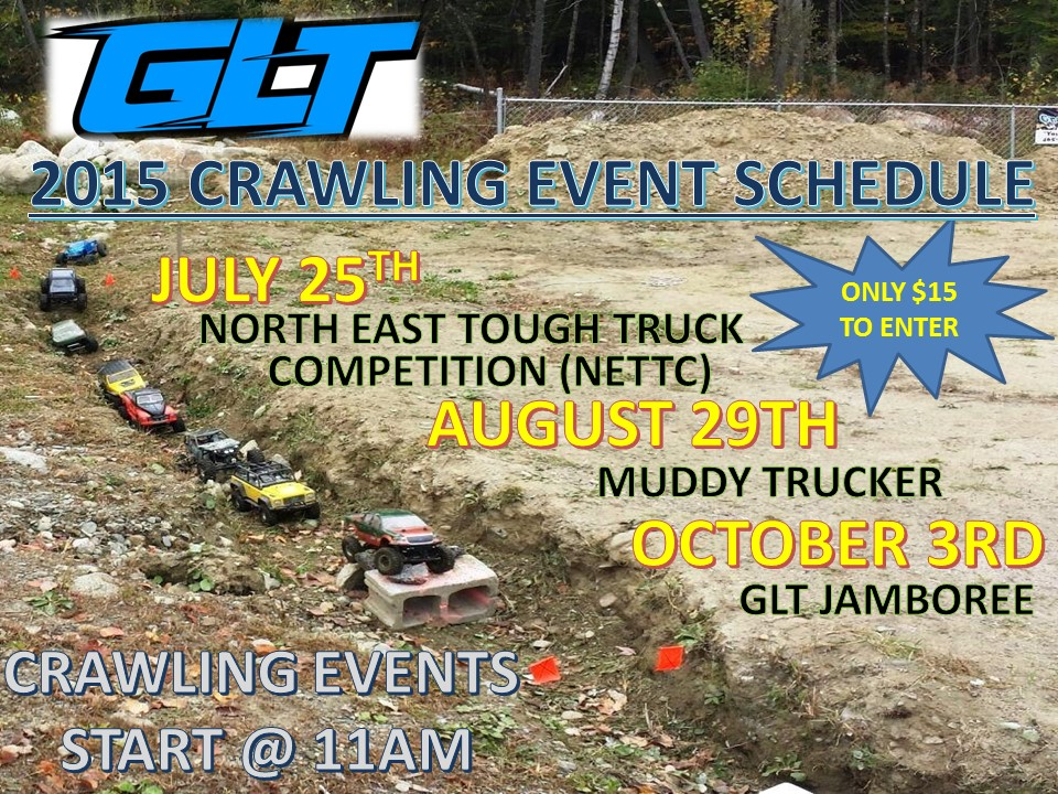 Summer Crawling Event Schedule 2015