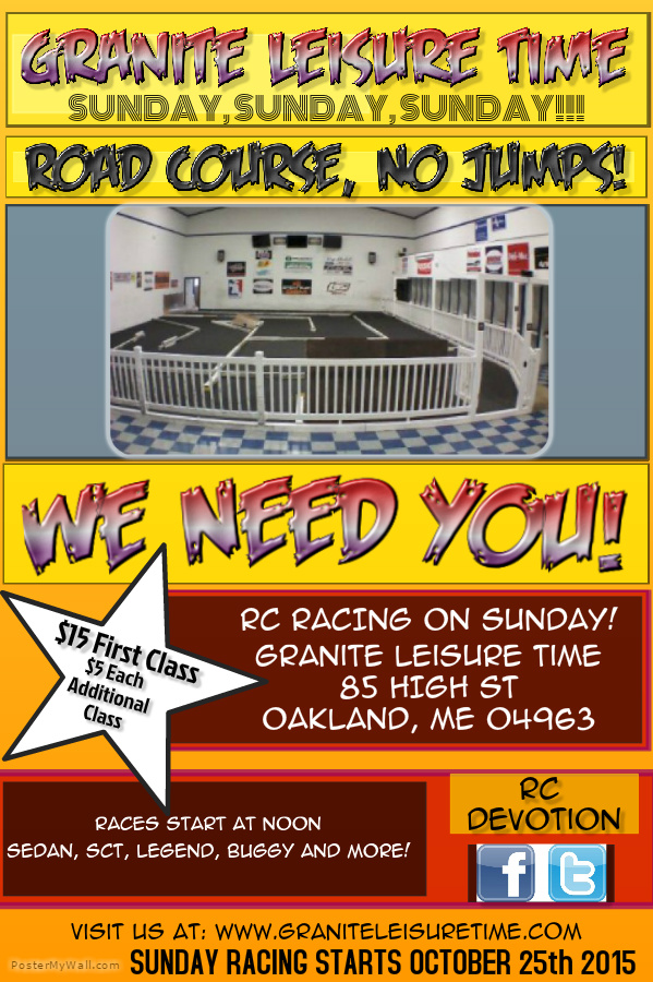 Sunday Racing @ Granite Leisure Time | Oakland | Maine | United States