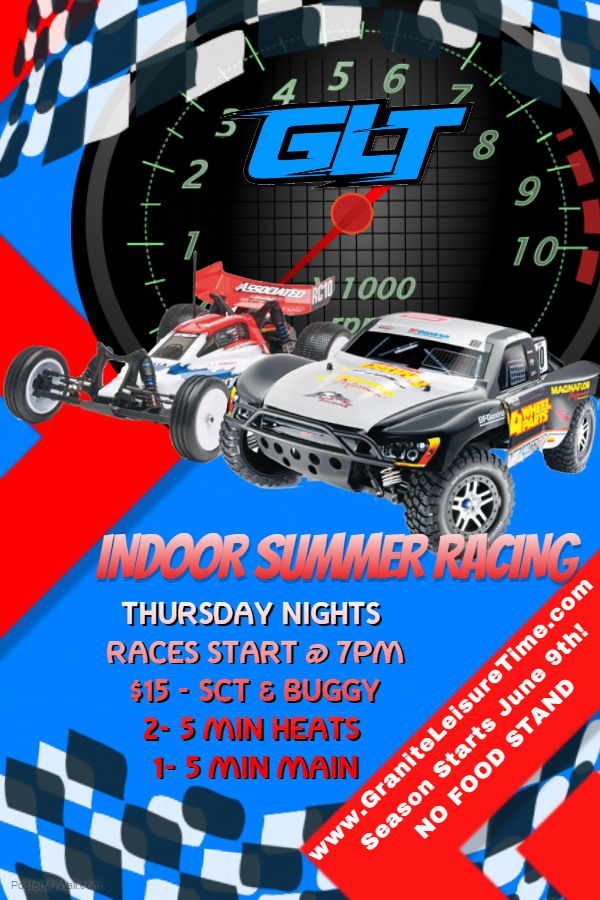 INDOOR SUMMER RACING @ Granite Leisure Time | Oakland | Maine | United States